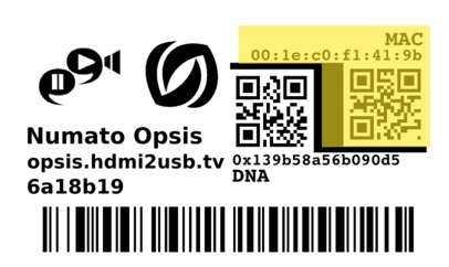 Opsis Label MAC section
