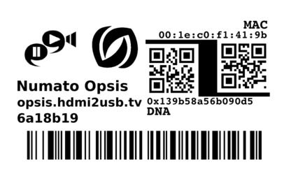Opsis Label Example